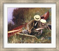 An Out-of-Doors Study (formerly known as Paul Helleu Sketching with His Wife) Fine Art Print