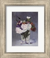 Flowers in a Crystal Vase - white Fine Art Print