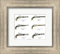 Authentic Early American Pistols (Set 6) Fine Art Print