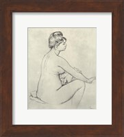 Bather Drying Herself - drawing Fine Art Print
