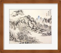 Pavilion with Distant Mountain Fine Art Print