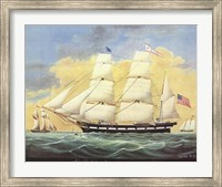 Ship St. Mary's Entering Harbor At Mobile Fine Art Print