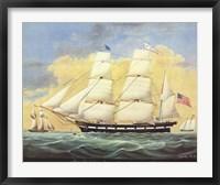 Ship St. Mary's Entering Harbor At Mobile Fine Art Print