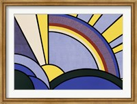 Modern Painting of Sun Rays Fine Art Print
