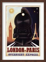 London-Paris Overnight Express Fine Art Print