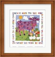 Purple Cow Fine Art Print