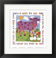 Purple Cow Fine Art Print
