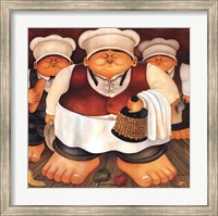 Three Chefs Fine Art Print