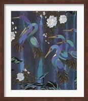 Cranes in Paradise II Fine Art Print