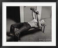 Marilyn Monroe, Hollywood (with weights), c.1952 Fine Art Print