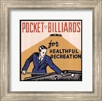 Pocket Billiards for Healthful Recreation Fine Art Print
