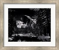 Half Dome, Merced River, Winter Fine Art Print
