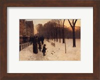 Boston Common at Twilight, 1885-86 Fine Art Print