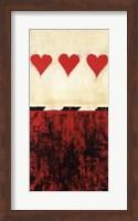 Three of Hearts Fine Art Print