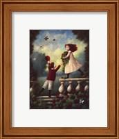 Children Playing: Garland Fine Art Print