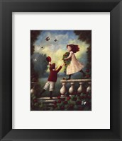 Children Playing: Garland Fine Art Print