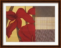 Collage with Red Tulips II Fine Art Print