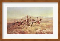 Sun River War Party Fine Art Print