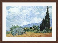 Yellow Wheat And Cypresses Fine Art Print
