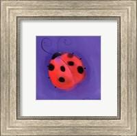 Ladybug On Blue Fine Art Print