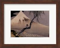 Boy On Mt. Fuji Fine Art Print
