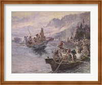 Lewis and Clark On The Lower Columbia Fine Art Print