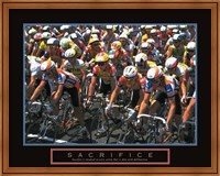 Sacrifice - Starting Line Bicycle Race Fine Art Print