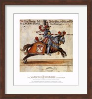 Knight With Red Javelin Fine Art Print