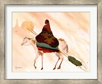On Horse At Sunset Fine Art Print