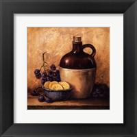 Jug with Grapes and Lemons Fine Art Print