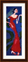 Haute-Couture II (Red On Blue) Fine Art Print