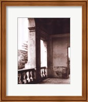 Balcony With Chair Fine Art Print