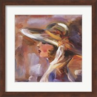 Woman with Hat Two Fine Art Print