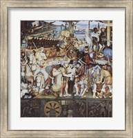Disembarkation Of The Spanish At Veracru Fine Art Print
