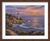 Sunset At Lighthouse Point Fine Art Print