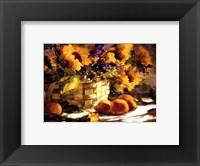 Sunflowers With Purple Fine Art Print
