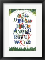 Safari Alphabet Fine Art Print