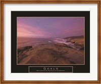 Goals - Sunset Fine Art Print