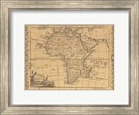Africa, 1800 Fine Art Print