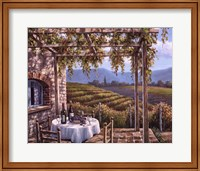 Vineyard Terrace Fine Art Print