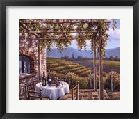 Vineyard Terrace Fine Art Print