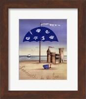 Sandcastles By The Sea Fine Art Print