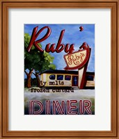 Ruby's Diner Fine Art Print