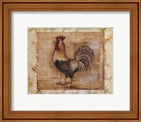 Rustic Farmhouse Rooster II - Mini Fine Art Print