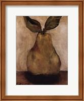 Golden Pear On Beige Fine Art Print