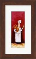 Chef With Bread And Oil Fine Art Print