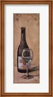 White Wine With Glass Fine Art Print