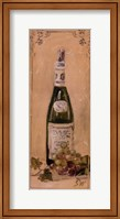 White Wine With Grapes Fine Art Print