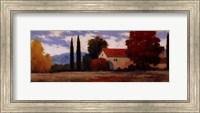 Burgundy Farmhouse I Fine Art Print