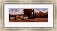 Burgundy Farmhouse II Fine Art Print